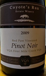 Coyote's Pinot Red Paw